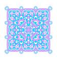 ornamental square mandala vector image vector image