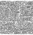 photo doodle seamless pattern vector image