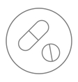 Pills line icon vector image vector image