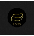 Pisces Zodiac sign vector image vector image