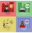 Police Work Concept vector image vector image
