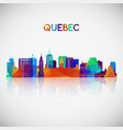 quebec skyline silhouette vector image vector image