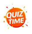 quiz time icon concept sign ask game vector image vector image