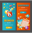 realistic lotto banner vertical set vector image vector image