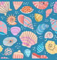 seashell seamless pattern summer ocean print with vector image