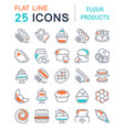 set line icons flour products vector image vector image