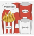 Set of French Fries Boxes vector image