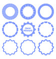 set of greek round frames 5 vector image vector image
