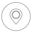 sign location icon black color in circle vector image vector image