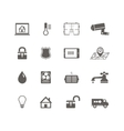 Smart home automation technology icons set vector image