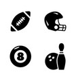 sports equipment simple related icons vector image