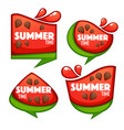 summer time collection of sweet and shine vector image vector image