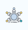 team group leadership business teamwork flat icon vector image