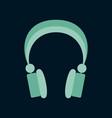 technology gadget in flat design headphones vector image vector image