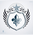 Vintage decorative emblem heraldic composition