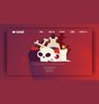 voodoo shop banner website design vector image