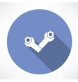 wrenches and bolts icon icon vector image