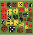isometric dice number lucky game fortune casino vector image
