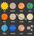solar system planet flat design icon vector image