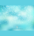 winter blue background with snow on christmas vector image