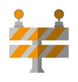 cartoon road barrier stop warning light vector image