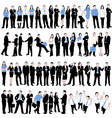 60 business people silhouettes vector image vector image