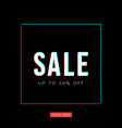 abstract glitch sale background vector image