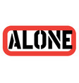 alone stamp on white