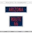 arizona route 66 creative 3d signboard vector image vector image