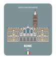 basilica di santa maria maggiore in rome italy vector image