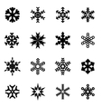 black snowflake icon set vector image vector image