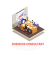 business consultant isometric concept vector image vector image