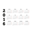 Calendar 2016 year on French language A4 sheet vector image vector image