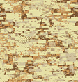 Camouflage desert disruptive block khaki seamless vector image vector image