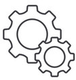 cog settings icon line flat vector image vector image