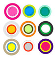 colorful paper circles with shadows vector image