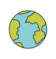Colorful silhouette of earth globe icon