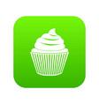 cupcake icon digital green vector image