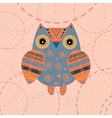 Cute owl with ethnic ornament vector image vector image