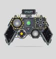 cyberpunk style gamepad videogame joystick vector image vector image