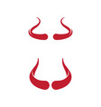 devil horn icon design vector image vector image