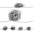 doodle tangle mess vector image