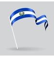 El Salvador wavy flag vector image