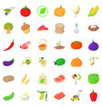 farm icons set isometric style vector image vector image