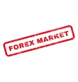 Forex Market Text Rubber Stamp vector image