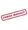 Forex Market Text Rubber Stamp