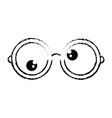 glasses funny eyes vector image