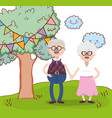 grandparents love relationship cartoon vector image