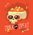 halloween inscription trick or treat is vector image vector image