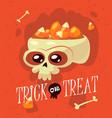 halloween inscription trick or treat vector image